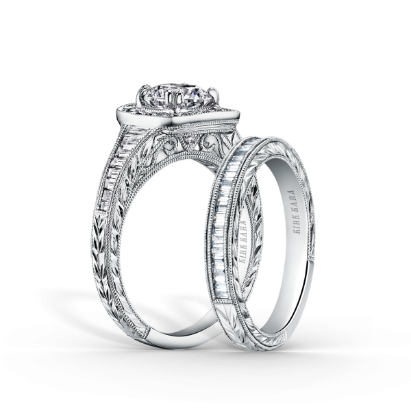 Carmella 18K White Gold Ladies Wedding Band (With images