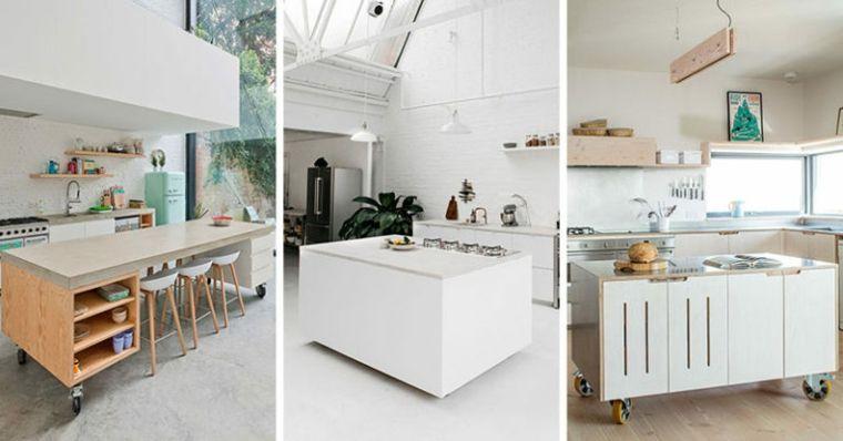 Islas para cocina móviles, unos diseños muy modernos | Islas para ...