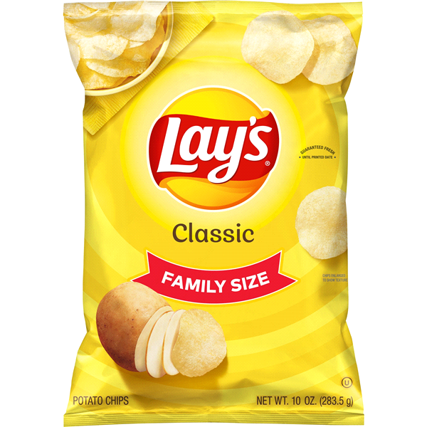 Lay S Family Size Classic Potato Chips 10 Oz Lays Potato Chips Potato Chips Lays Chips