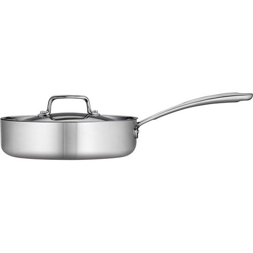 Tramontina 3 Qt Stainless Steel Tri Ply Clad Deep Saute Pan With Lid Walmart Com Saute Pan Saute Stainless