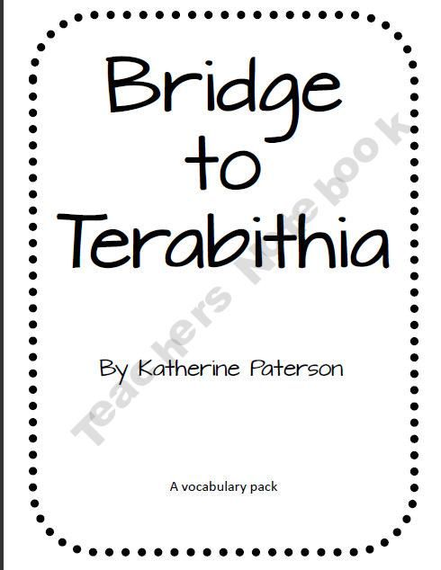 Bridge to Terabithia Vocab Pack product from Teaching-With