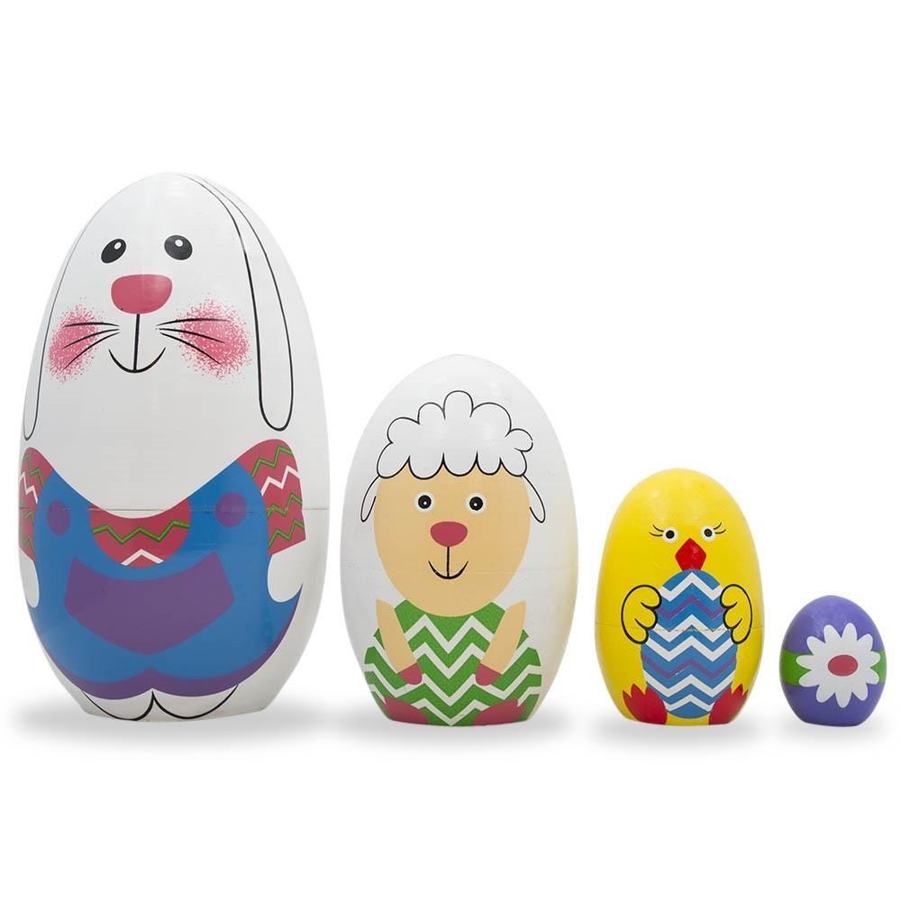 Spiele BestPysanky 6.5 Set of 6 Unpainted Blank Wooden Nesting Dolls
