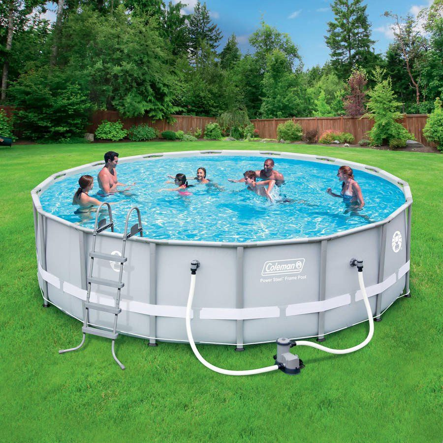 16 x 48 Steel Frame Above-Ground Easy Setup Outdoor Swimming ...