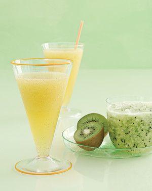 Kiwi Margarita Recipe | Martha Stewart Living — Kiwi gives a great hue and slushy consistency to this flavored margarita.