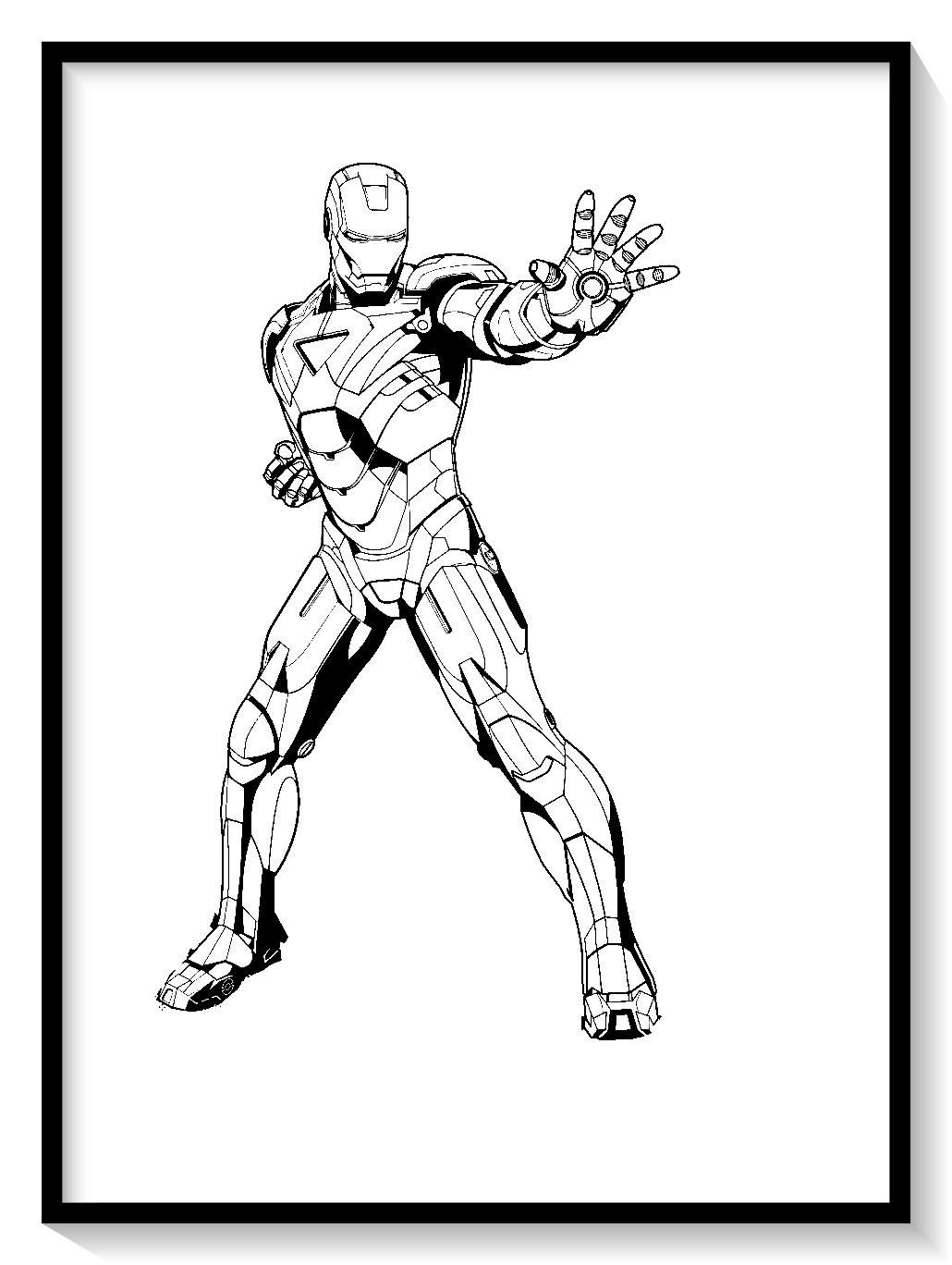💪💪 Dibujos de iron man para colorear en linea 💪💪 colorear ...