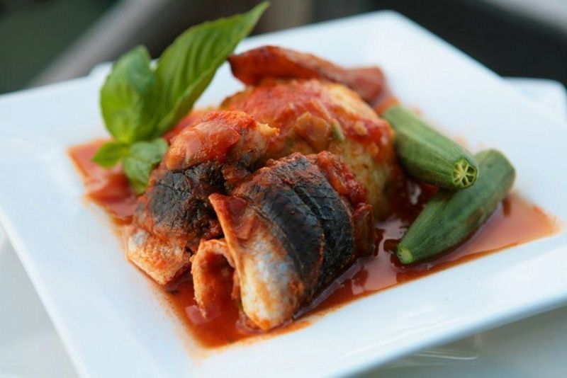 National Dish: Flying fish and cou cou.