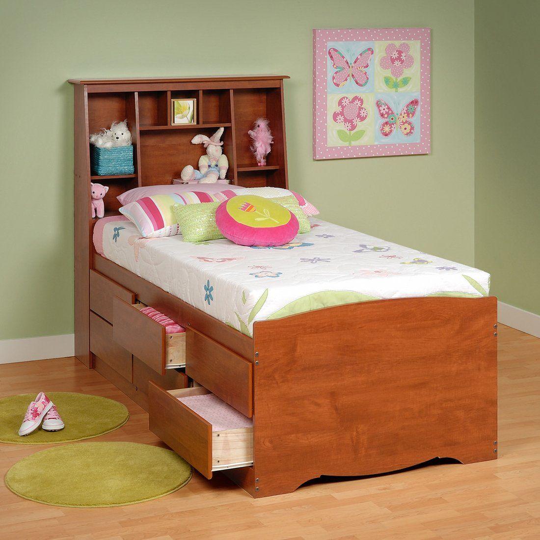 Prepac Bedroom Furniture Prepac Furniture Captains Platform Storage Bed With Slant Back
