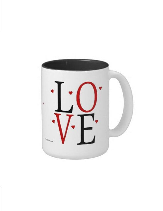Valentine's Day LOVE Mug  Personalized by CCGirlsCorner on Etsy
