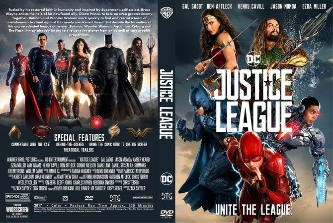 Justice League (2017) DVD Custom Cover   Custom DVD Cover