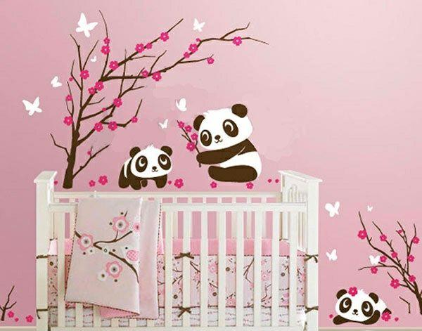Babyzimmer wandgestaltung tiere  Babyzimmer Wandgestaltung - 15 Wanddeko Ideen mit Tieren ...