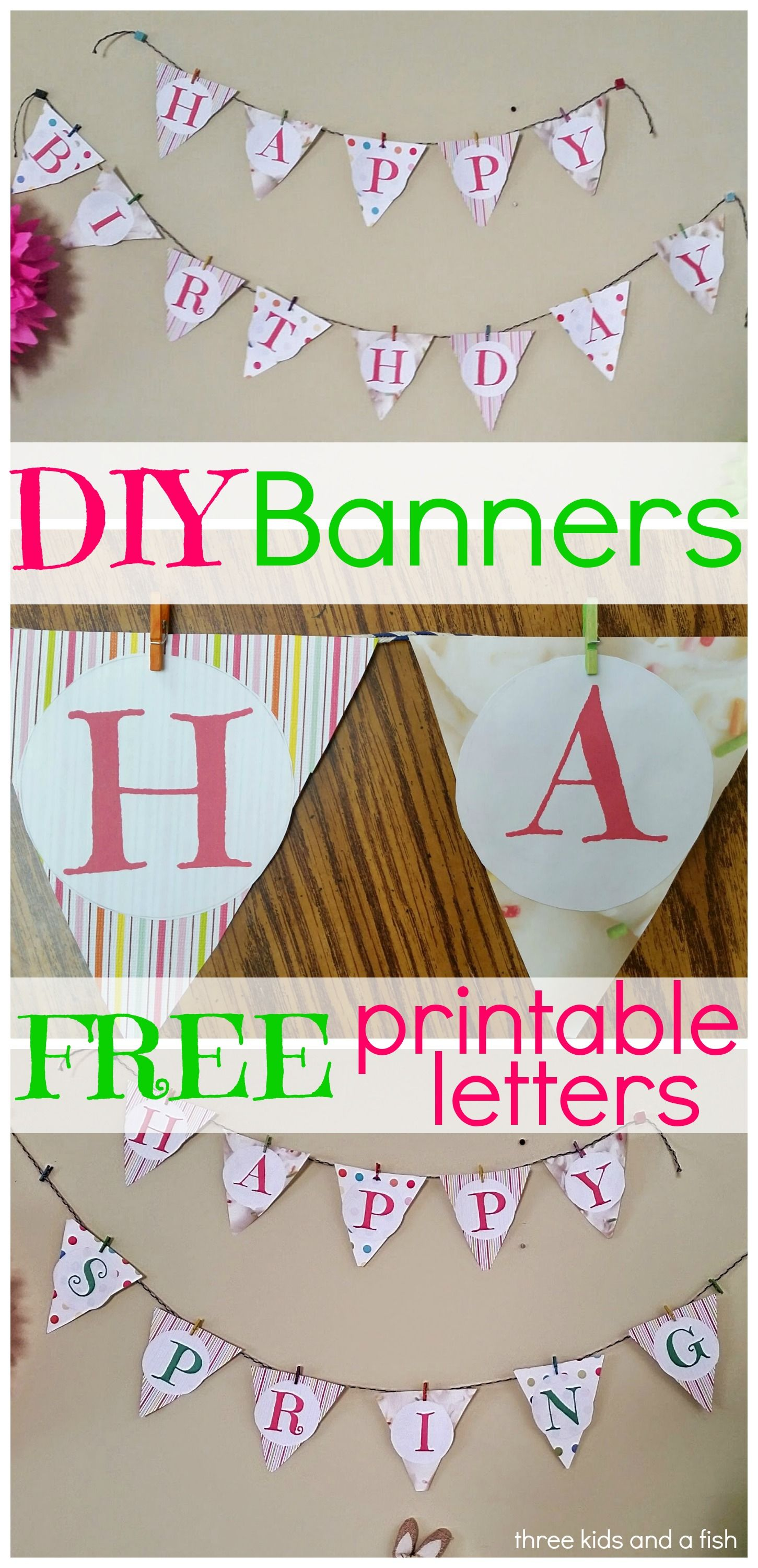 Diy Happy Birthday Banner  Happy Birthday Banners Printable