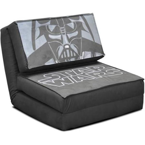 New Star Wars Kids Darth Vader Flip Chair Sofa Sleeper Guest Bed