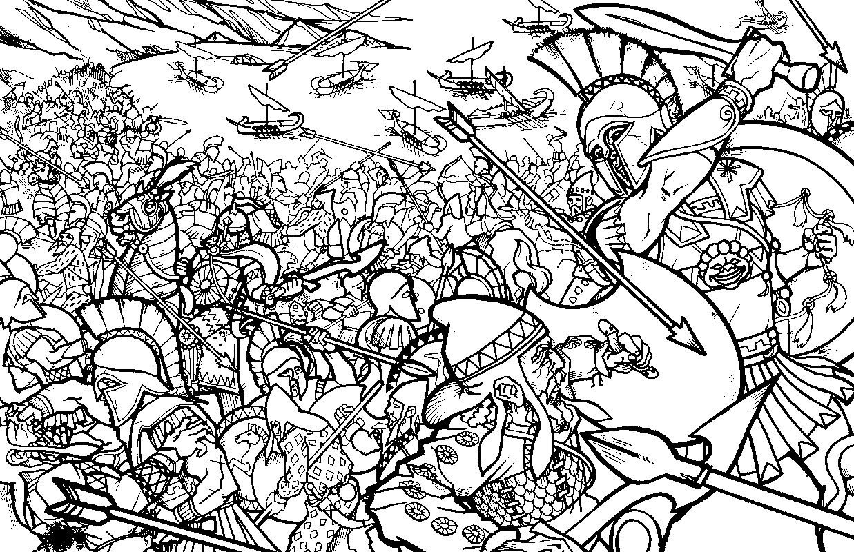 Awesome Medieval Coloring Illustration Coloring Pages Coloring