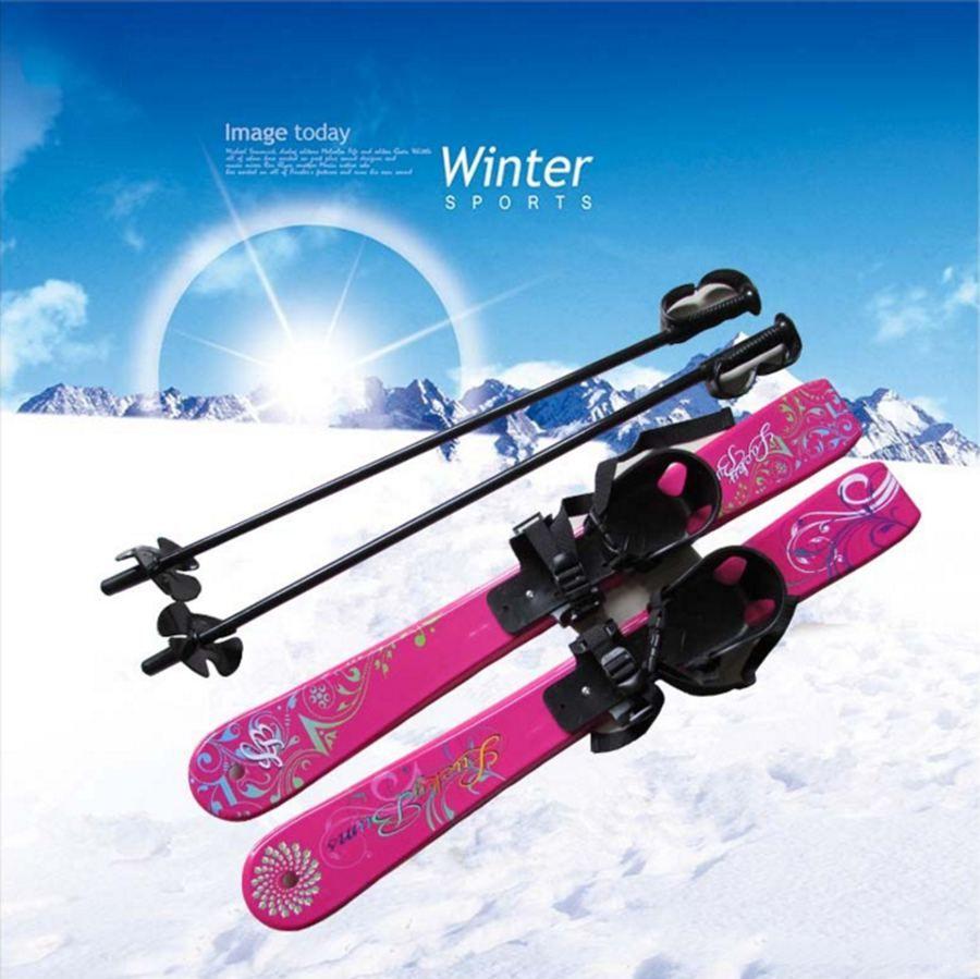 Children Ski Set Kit Skiing Board Snowboard Stc Children S Sled Sleigh Binding With Ski Pole 69cm For Boy Girl Kids Ski Set Snowboard Skiing