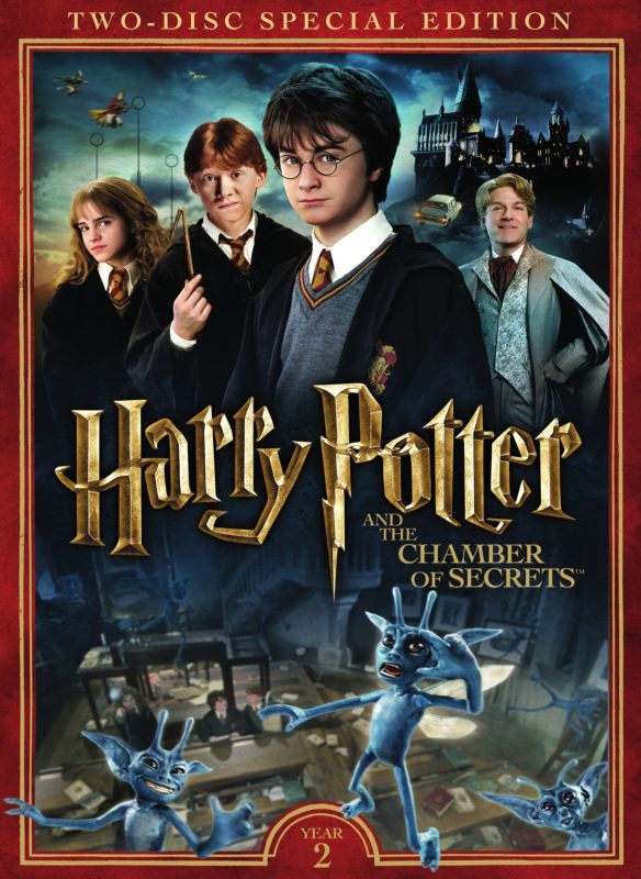Harry Potter And The Chamber Of Secrets 2 Discs Dvd 2002 Best Buy Chamber Of Secrets Harry Potter Movies Harry Potter 2