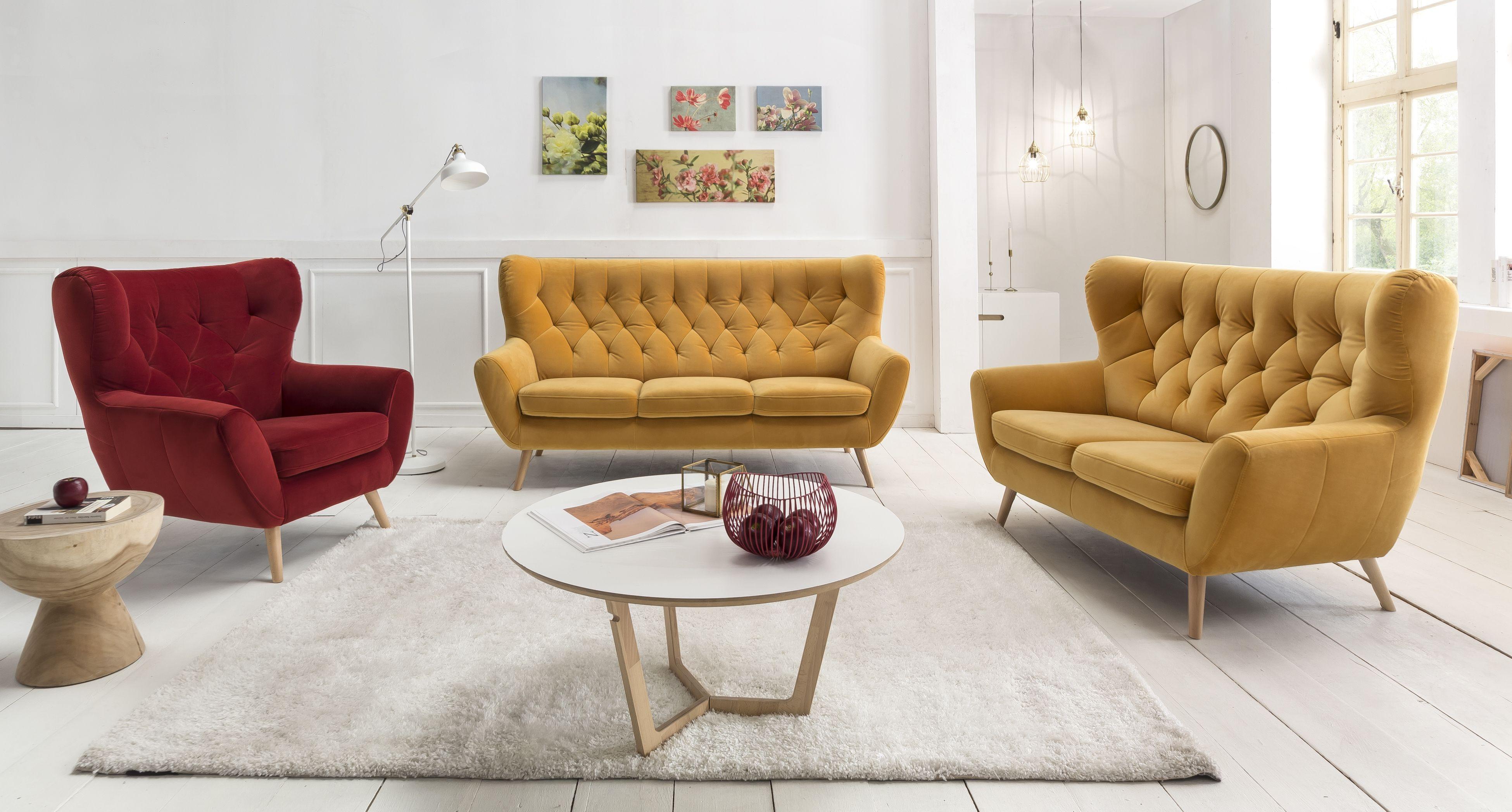 Zestaw Wypoczynkowy Voss Prezentuje Się Pięknie W Każdym Wnętrzu. Dobierz  Fotel W Kontrastowym Kolorze Do