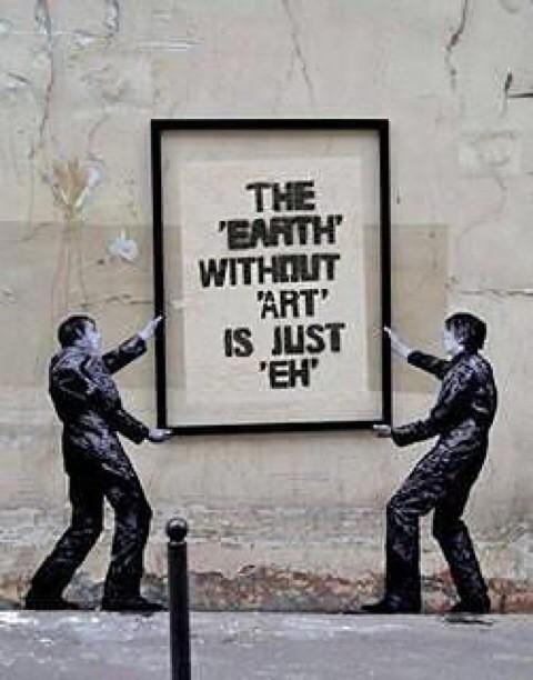 Eh ... Meh .. by @bansky via Twitter #Street #Art #Baknsky #Word #Earth