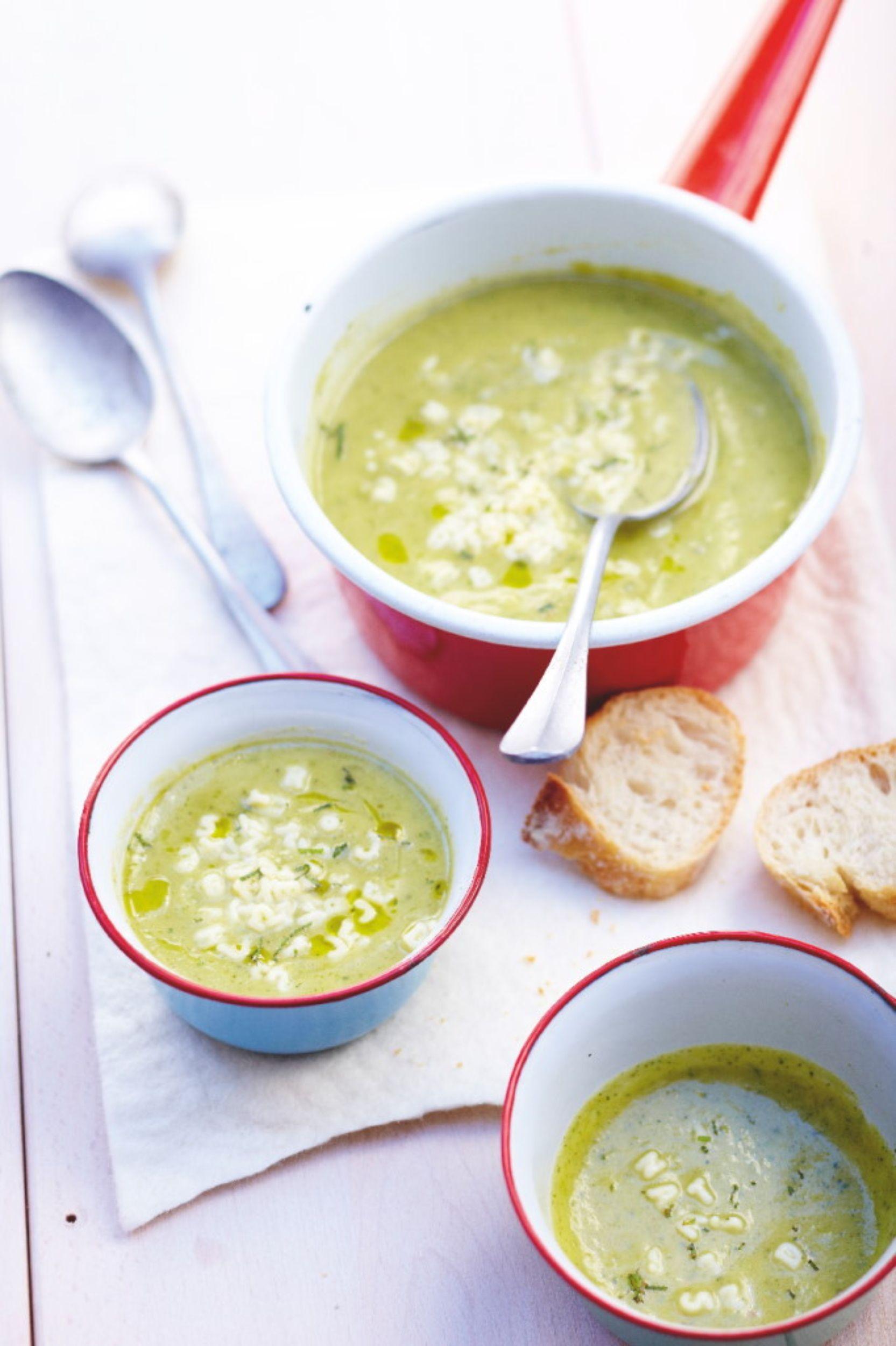Recette soupe de courgettes fenouil et menthe p tes alphabet recettes les entr es food - Cuisiner le bar ...