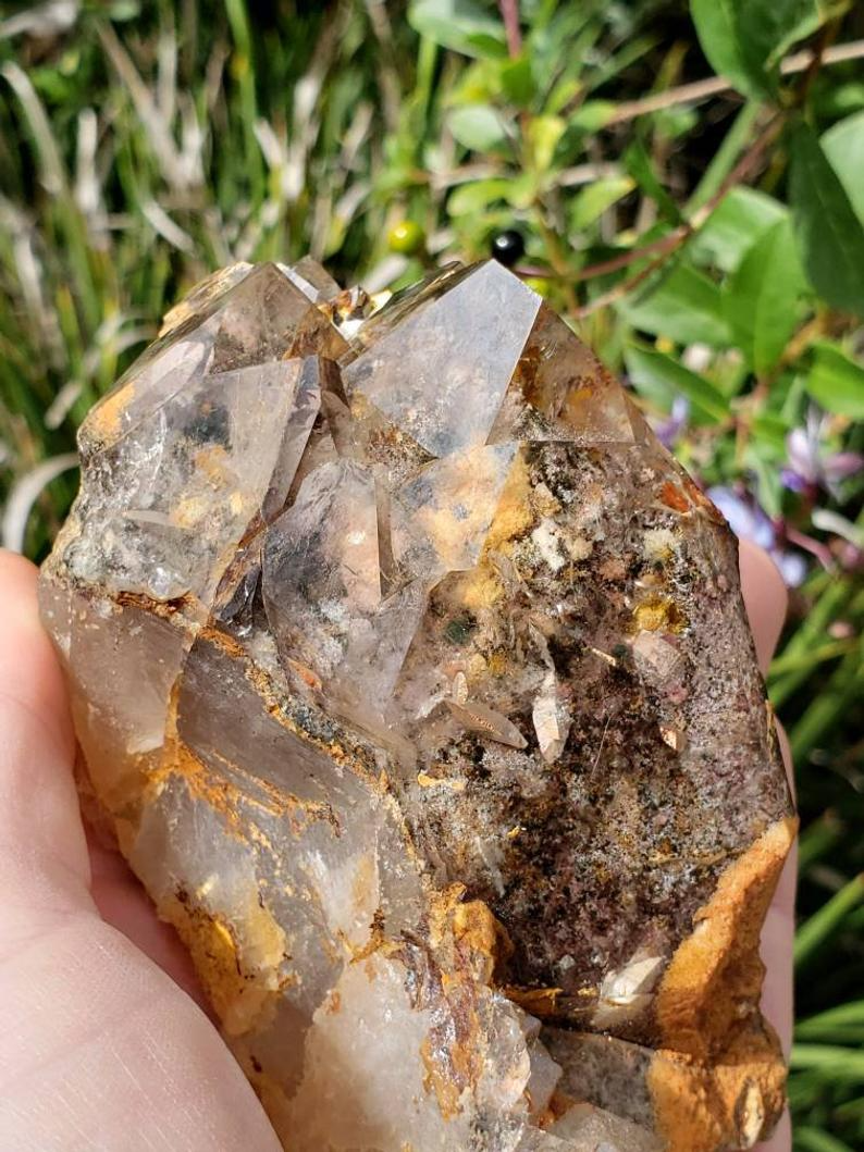 Absolutely Beautiful Perfect For Any Collection Super Unique /& Amazing! Rutilated Quartz Cluster- STUNNING A Grade Piece