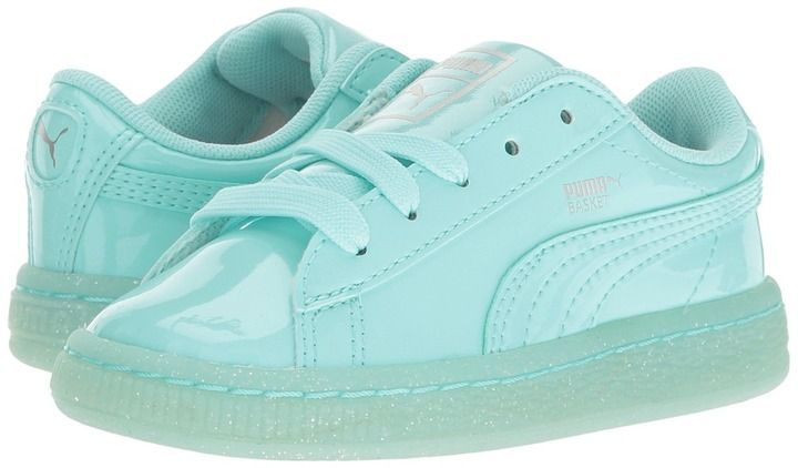 6b46495c1538 Puma Kids Basket Patent Iced Glitter INF (Toddler). Pumas ShoesNike ...