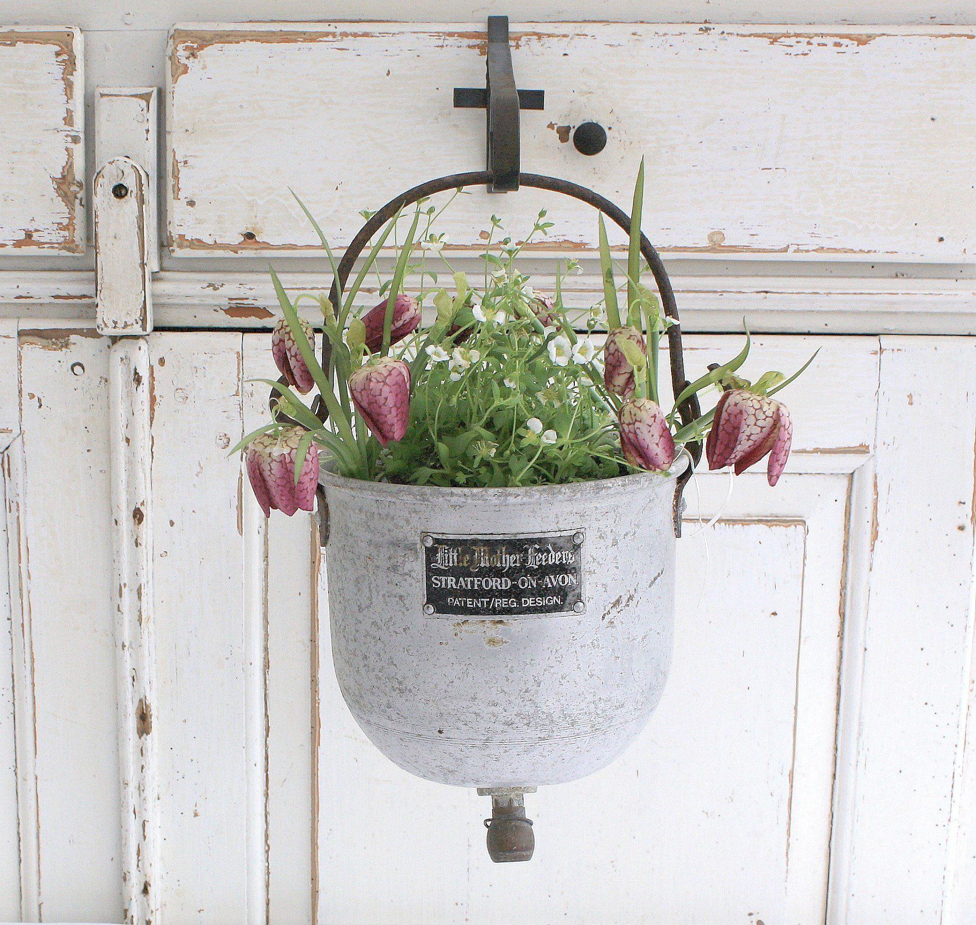 Aluminium Hanging Planter Old Cottage Garden Flower Pot Flower Pot Garden Flower Pots Cottage Garden