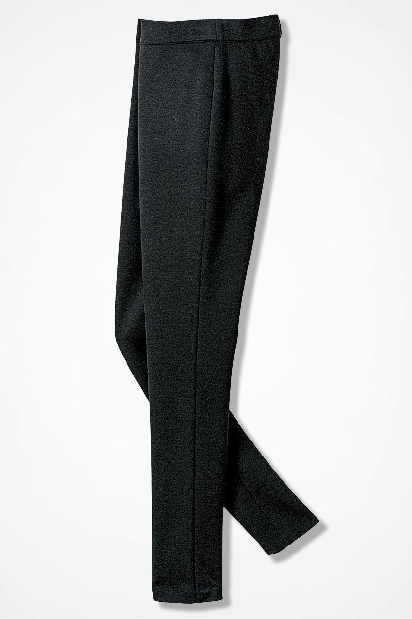 18f225541b1c48 Ponte Perfect Slim-Leg Leggings, Caviar Charcoal Women's Pants, Pajama Pants,  Slim
