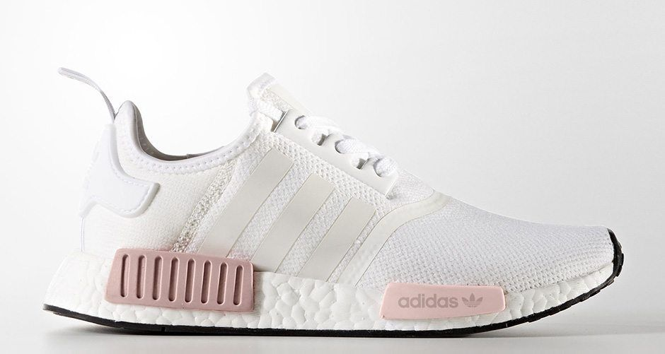 Adidas Nmd R1 White Rose Adidas Nmd White Nmd Adidas Women White Adidas Outfit Shoes