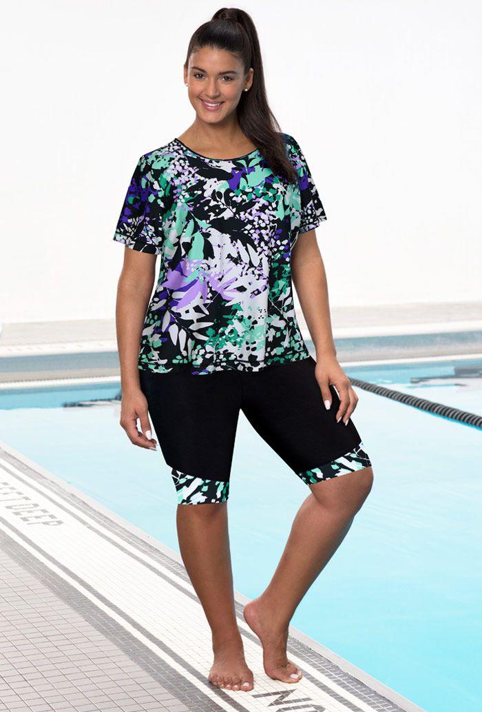 0e212cdde6 Chlorine Resistant Lilypad Long Bike Short Set | My Style | Swimsuit ...