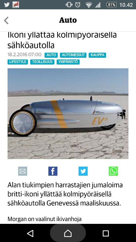 Kolmipyöräinen sähköauto