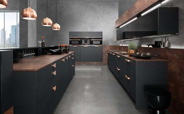 ideen f r eine schwarze k che k che schwarz. Black Bedroom Furniture Sets. Home Design Ideas