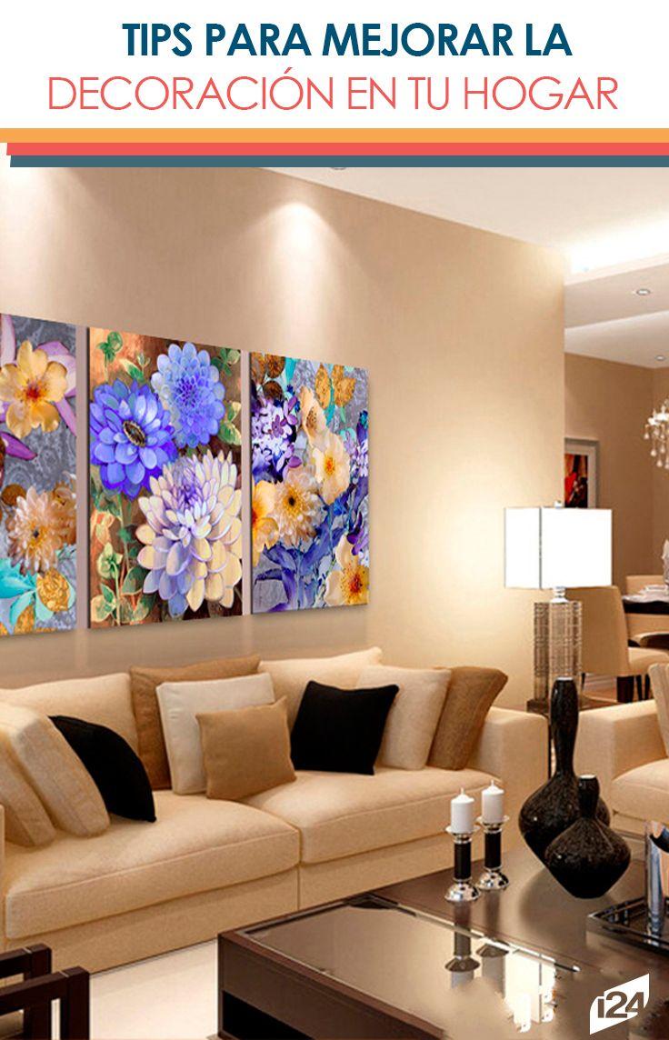 Homes · Interiors · Utiliza Los Cuadros De La Mejor Manera Con Estos #tips  #hogar #decoración #