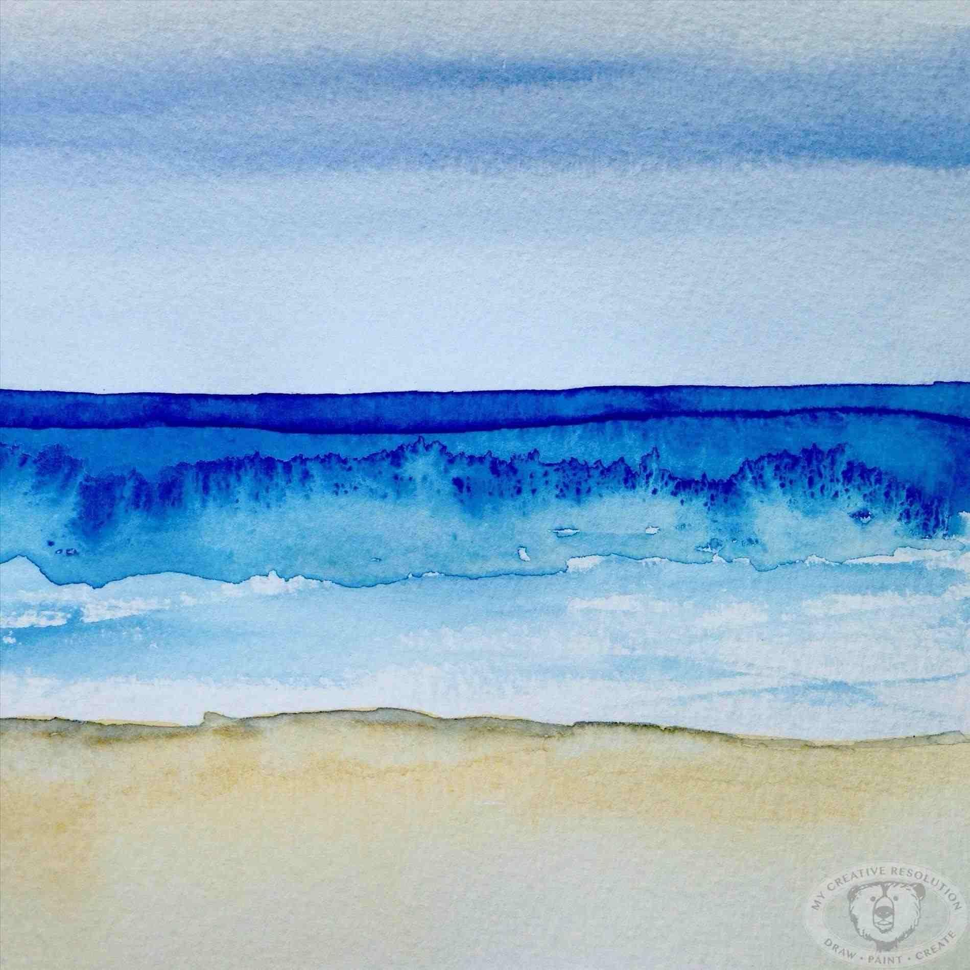 Ideas Easy Fresh Simple Landscape Watercolor Ocean Ocean Painting Seascape Paintings