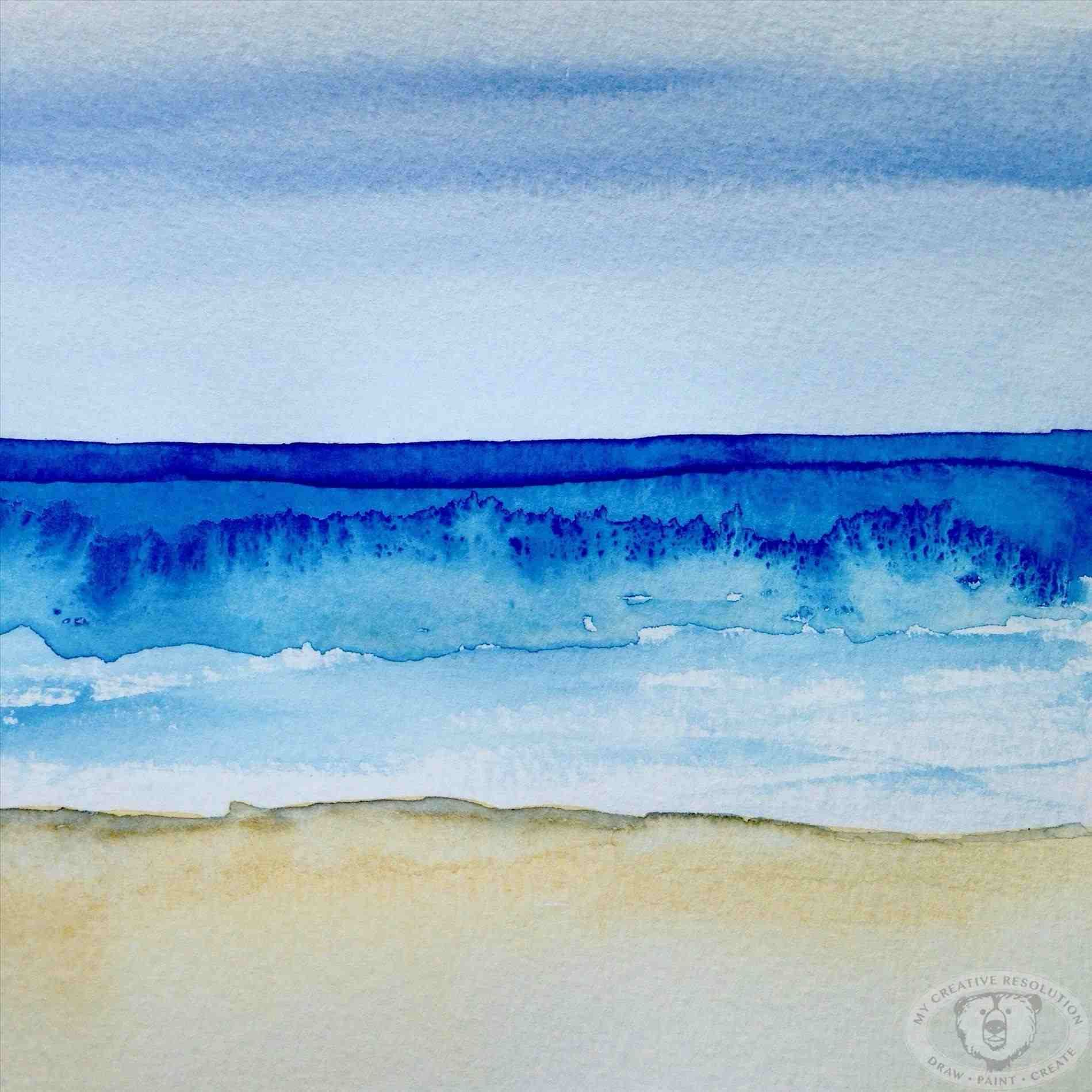 Ideas Easy Fresh Simple Landscape Watercolor Ocean Ocean