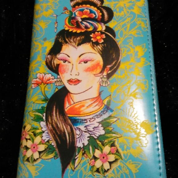 Ed Hardy Geisha wallet This medium sized wallet has never been used and comes with original packaging. Ed Hardy Bags Wallets