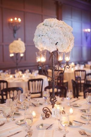 Centerpiece Candles Flowers Wedding Arizona By Lesliemarch