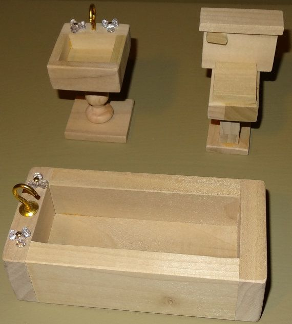 Wooden Dollhouse Furniture Handcrafted Crafts Wooden