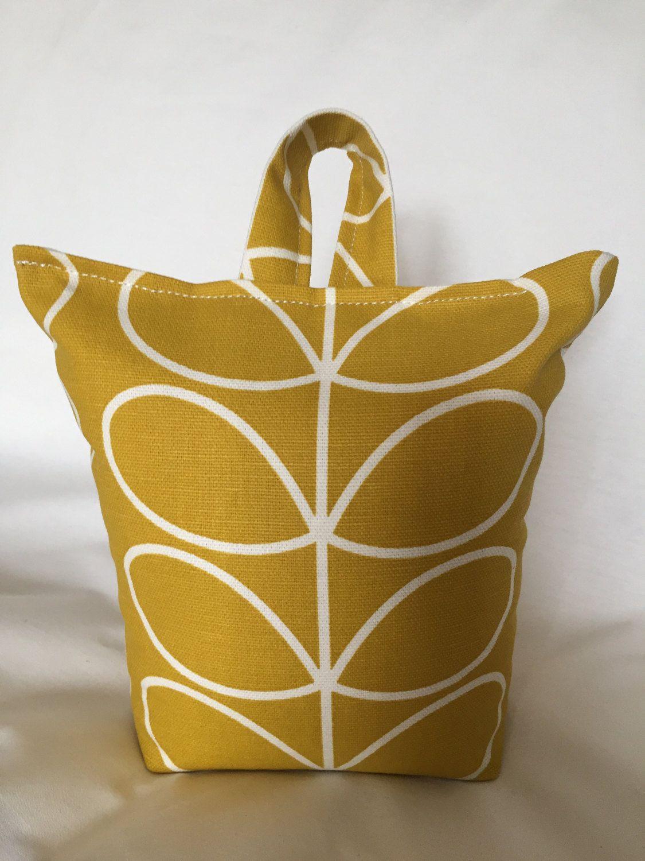 Yellow Home Accessories Orla Kiely Fabric Doorstop Doorstop Mustard Gift Idea Home