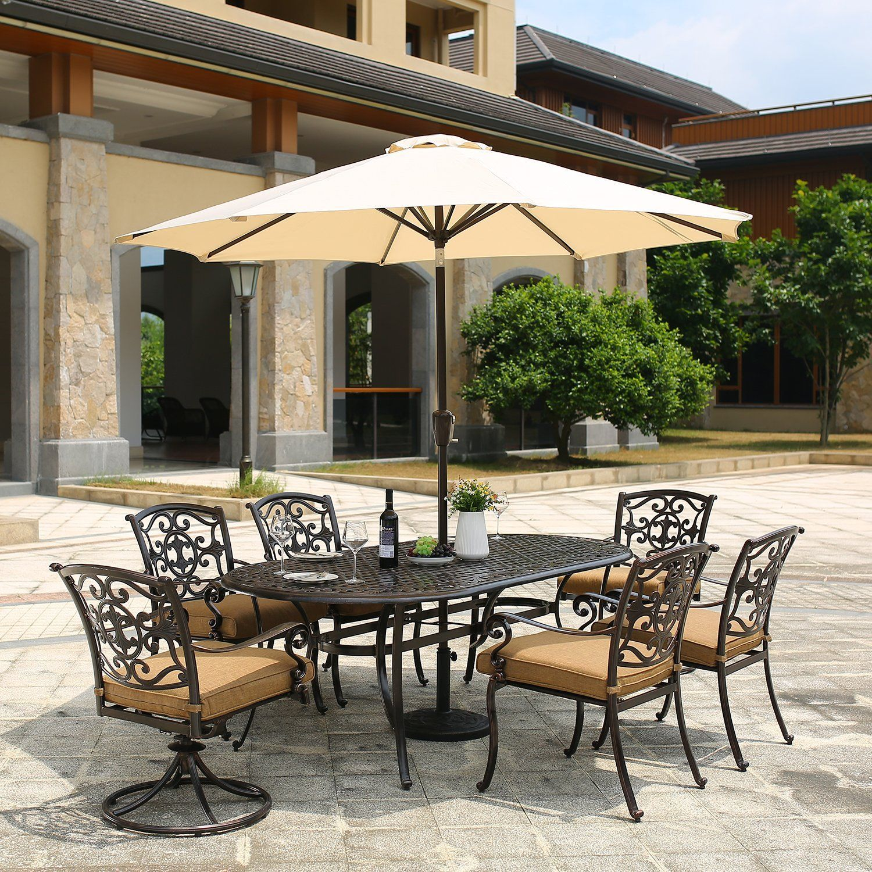 Patio Umbrella 9 Outdoor Table Market Umbrella With Push Button
