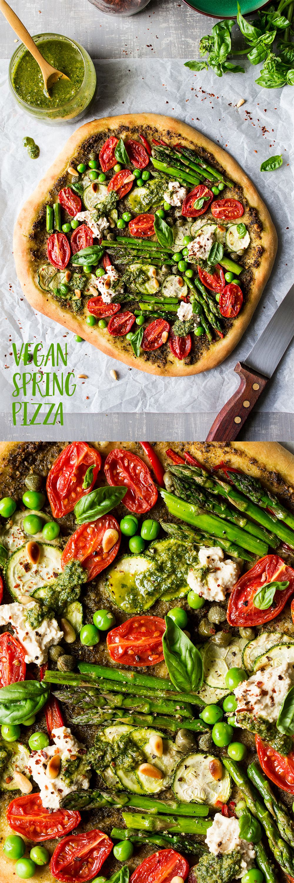 Spring Cheeseless Pizza