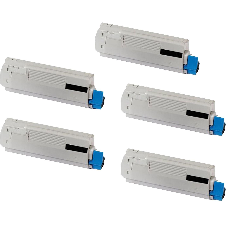 N 5PK Compatible OKI 43324469 Toner Cartridge For OKI C6000N 6000DN