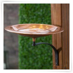 Classic Copper Bird Bath Bowl With Wall Mount Bracket I Would Love