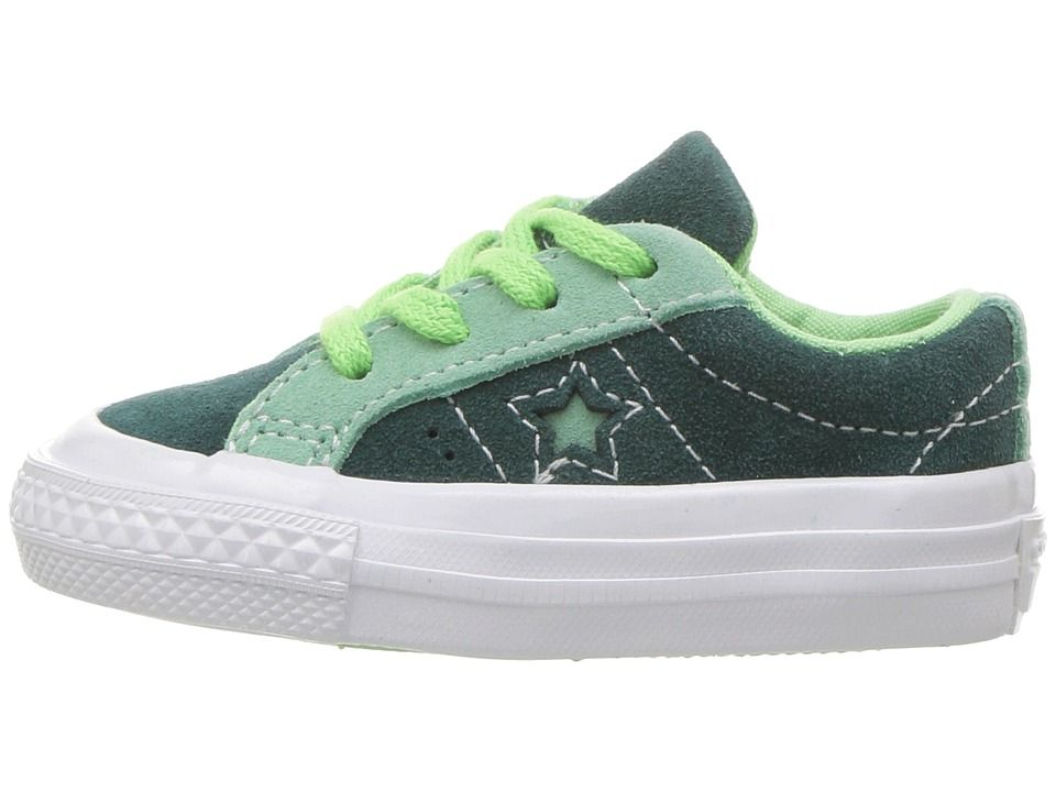 fe7de7aa835 Converse Kids One Star - Ox (Infant Toddler) Boy s Shoes Ponderosa  Pine Neptune Green Illusion Green