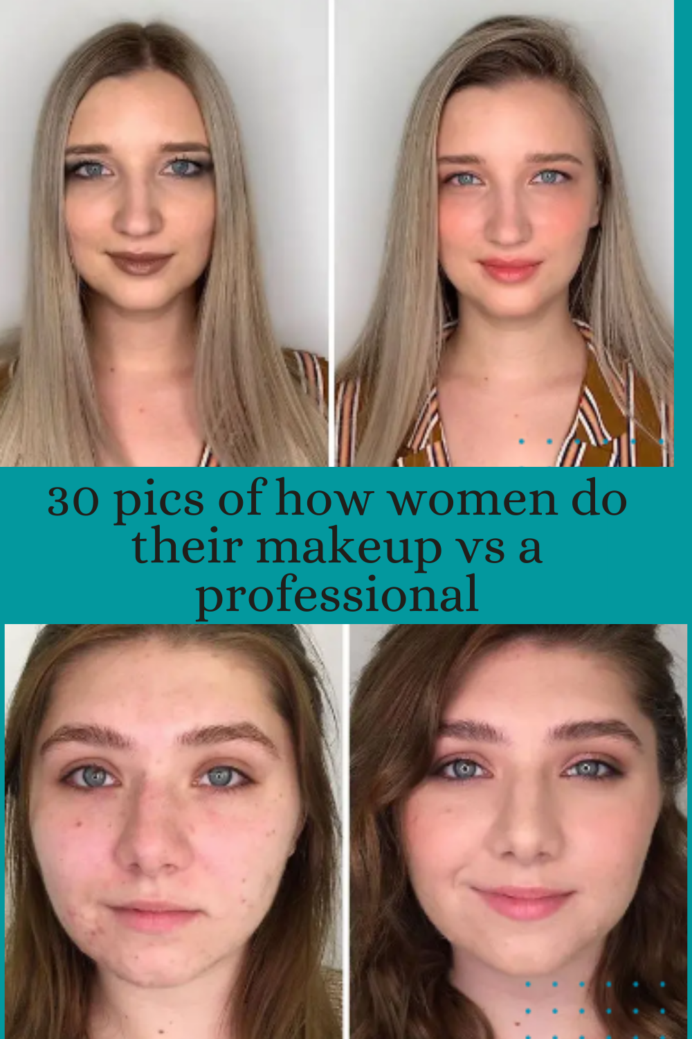 30 Pics Of How Women Do Their Makeup Vs A Professional In 2020 Putting On Makeup Makeup Amazing