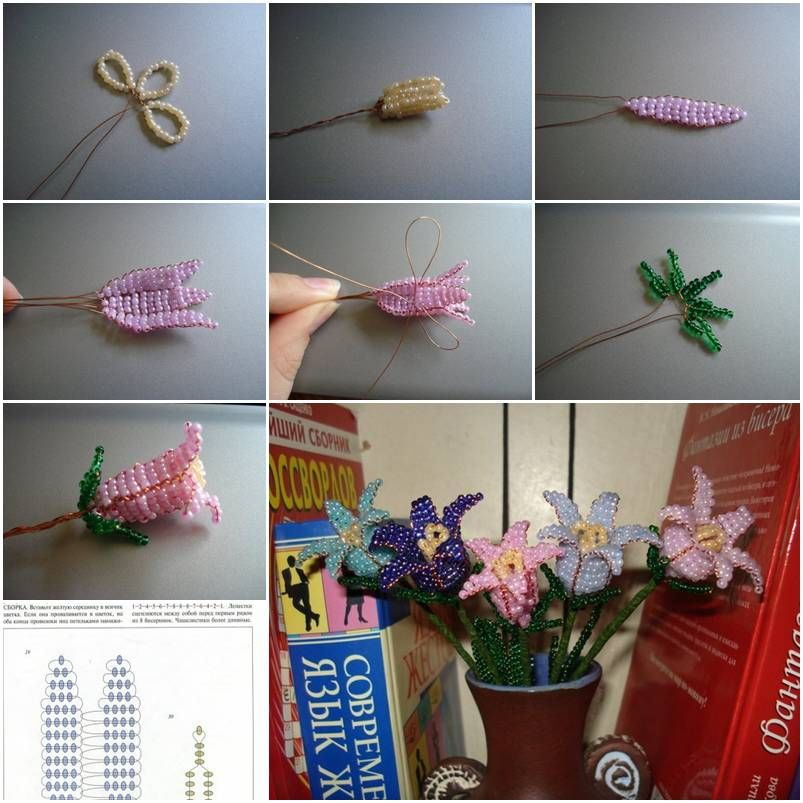 How to make Beads Bell Flower step by step DIY instructions ...