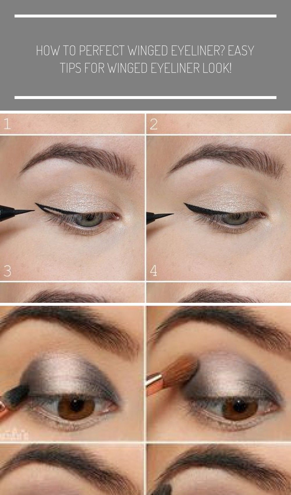 the easiest way to do winged eyeliner makeup tips tutorials How to perfect winged eyeliner? Easy ti