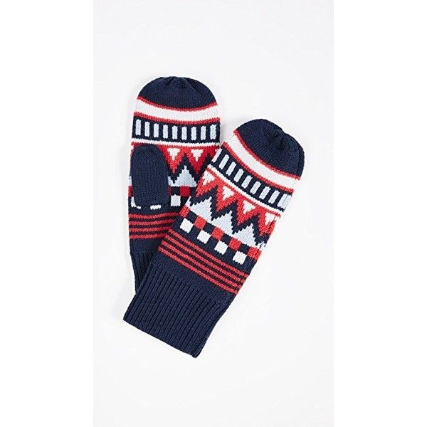 Tory Sport Fair Isle Mittens (4,360 INR) ❤ liked on Polyvore ...