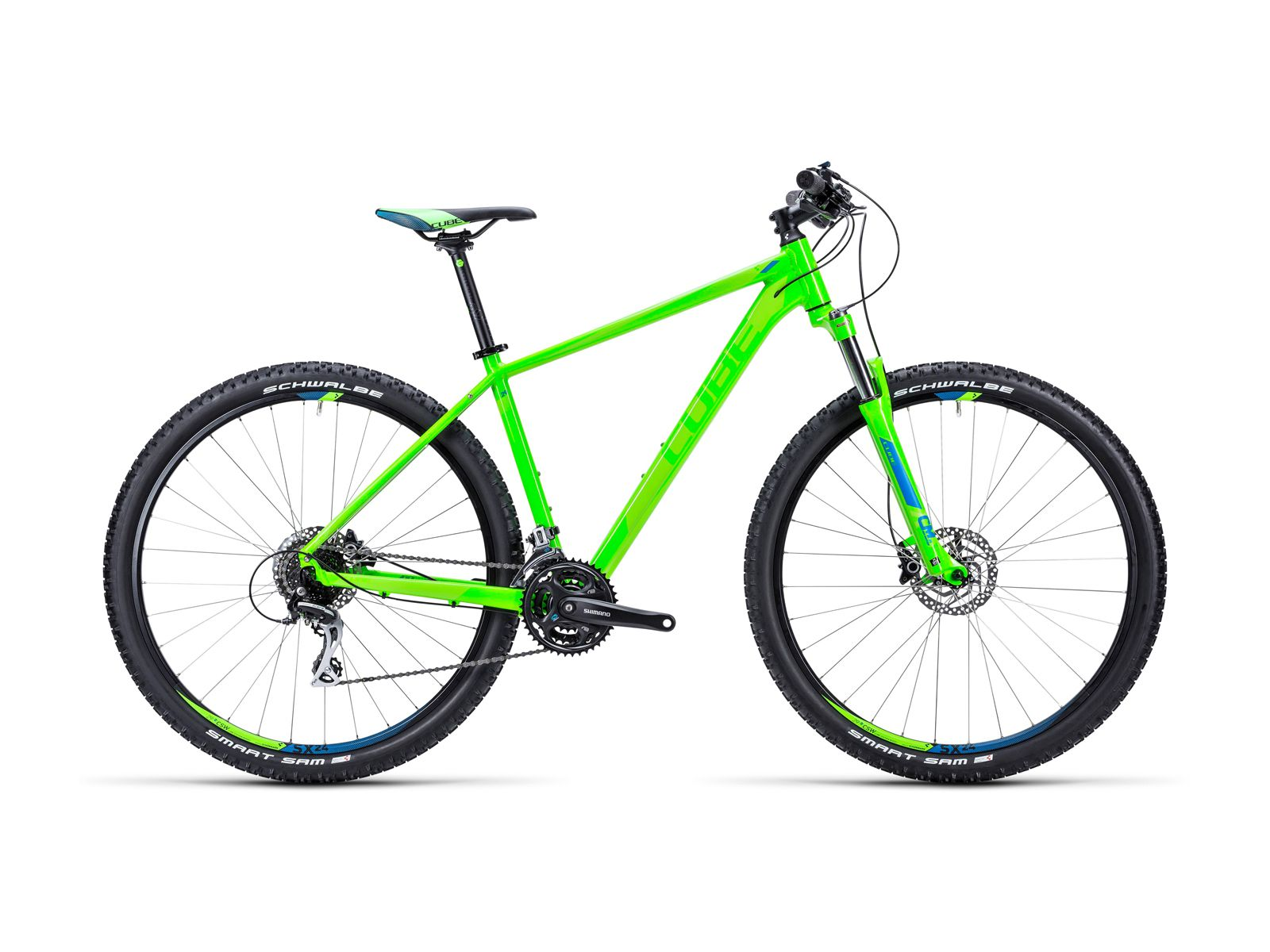 Cube Aim SL 29 2015, green/blue - Mountainbike