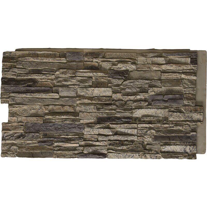 Canyon Ridge Stacked Faux Stone Polyurethane Wall Paneling In 2020 Faux Stone Stone Panels Exterior Faux Stone Walls