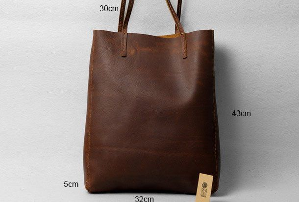 da6d97acce Handmade modern vintage leather big black coffee tote bag shoulder bag