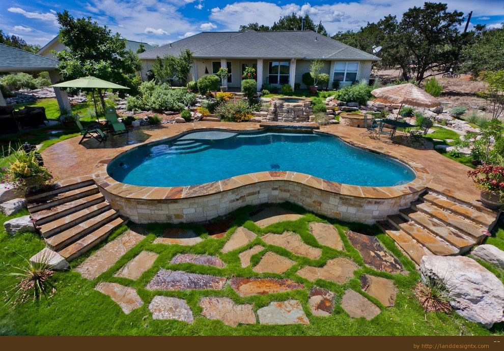 swimming pool decks divine pool deck designs plans - Swimming Pool Landscape Designs